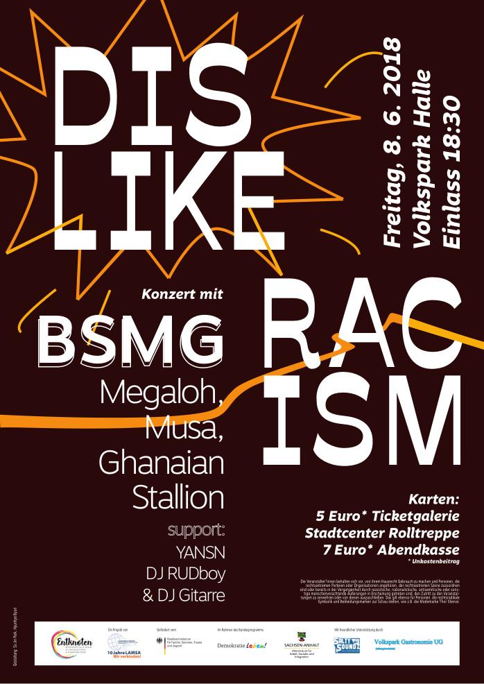 Plakat DISLIKE Racism