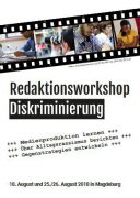 Flyer-Abbild Redaktionsworkshop Diskriminierung