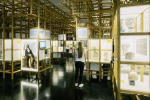 Foto Ausstellung mit Besucherin